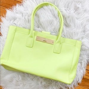 Vince Camuto Neon Green Satchel Handbag